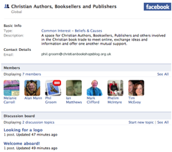 Christian Authors, Booksellers and Publishers facebook group