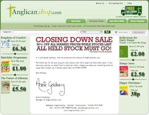 Anglicanshop.com Closing Down