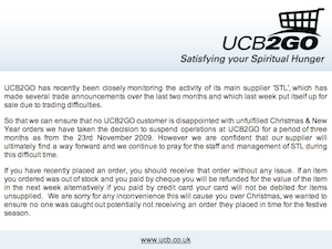 UCB2GO: Service Suspended