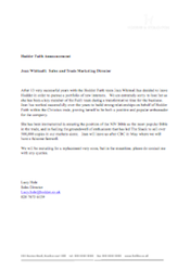 Hodder Faith Announcement 23/04/2010: After 13 very successful years with the Hodder Faith team Jean Whitnall has decided to leave Hodder in order to pursue a portfolio of new interests...