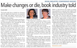 Make changes or die, book industry told