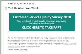 STL UK Customer Service Survey