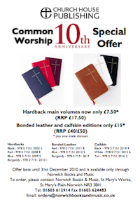 Church House Publishing: Common Worship 10th Anniversary Special Offer