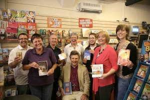 Bishop of Shrewsbury meets shoppers at Illuminate Christian Bookshop