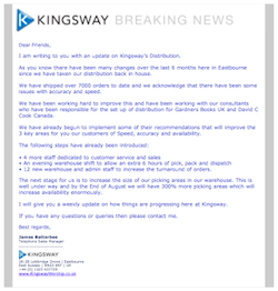 Kingsway - Breaking News, 15/06/2010