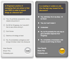 Kingsway Polls: Because the questions won't go away…