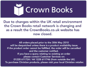 Crown Books Now Closed