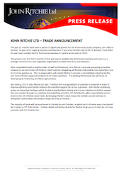 Press Release from John Ritchie Ltd, 14/10/10: Carlisle Consolidation (pdf, 1.7mb)