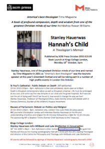 Press Release: Stanley Hauerwas, UK Events (pdf, 279kb)