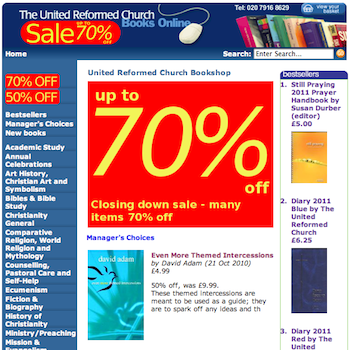 URC Bookshop: Closing down sale: Up to 70% off...