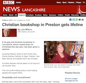BBC News, Lancashire: Christian bookshop in Preston gets lifeline