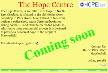 Hope Centre, Macclesfield: Coming soon!