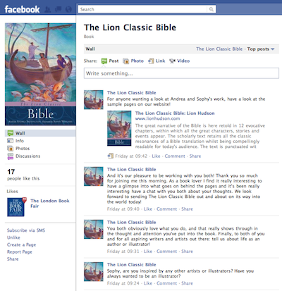 The Lion Classic Bible: A facebook interview with  Andrea Skevington and Sophy Williams