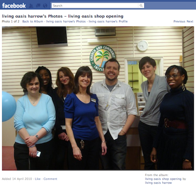Looking Back: Living Oasis Harrow's facebook photos - shop opening