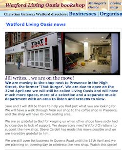 Living Oasis Watford find new premises