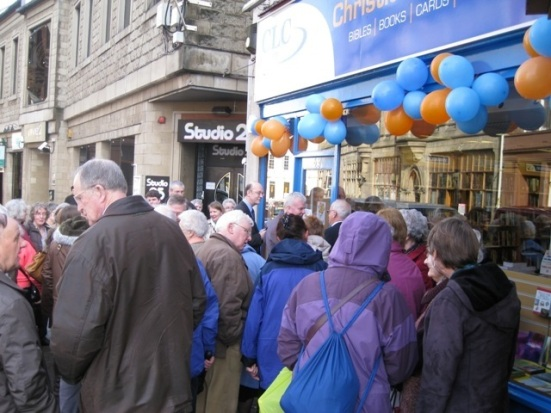 A crowd gathers for the official opening of CLC Castle Street, Inverness