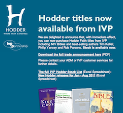 Hodder titles now available from IVP