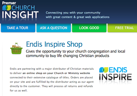 Premier Church Insight: Endis Inspire Shop