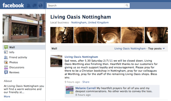 Living Oasis Nottingham and Worthing slated for closure July 2, 2011