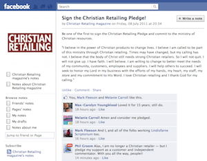 Sign the Christian Retailing Pledge!