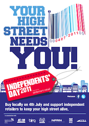 Independents' Day: Your High Street Needs You! Click through for more info and poster download options...