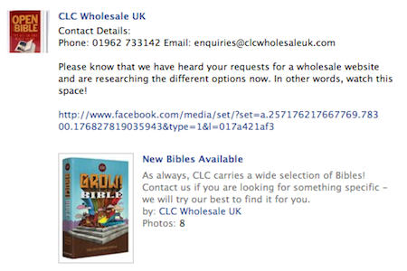 CLC Wholesale, 02/11/2011: Please know that we have heard your requests for a wholesale website and are researching the different options now. In other words, watch this space!