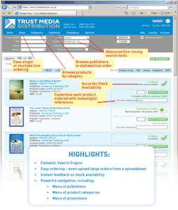 TMD New Website: Annotated Screenshot