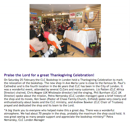 CLC London: Praise the Lord for a great Thanksgiving Celebration!