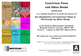 Convivium Press and Alban Books Trade Distribution Partnership: Launch Invitation