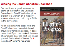 Closing the Cardiff Christian Bookshop