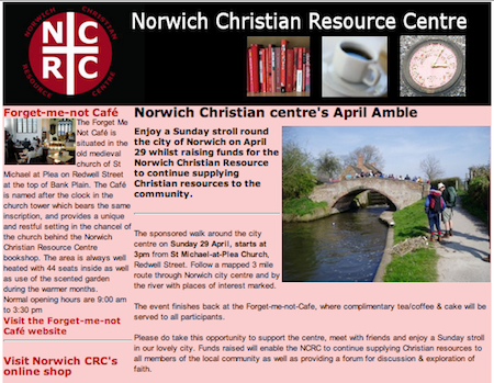 Norwich Christian centre's April Amble