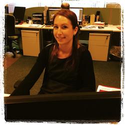 Anna Bunn in the Eden Office