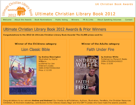 Ultimate Christian Library Book Awards 2012