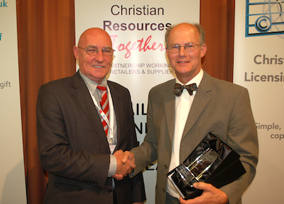 Long Service Award, Retailer, presented to Guy Marshall (right)