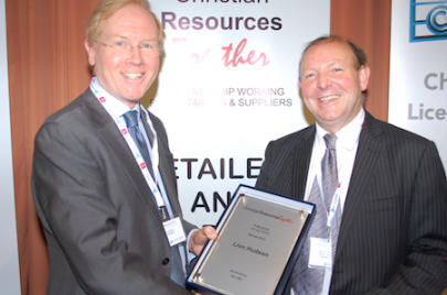 Publisher of the Year Award presented to Paul Clifford (left), Lion Hudson, by Mark Clifford, Chairman, BA CBG