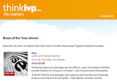 Over 12s Book of the Year Winner 2012: Rise, Jason and Rachel Gardner