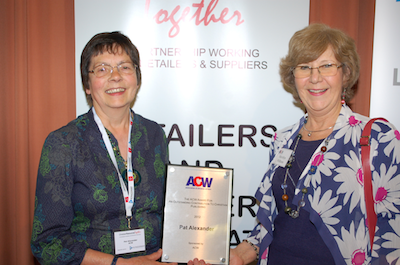 ACW Outstanding Contribution to Christian Publishing Award presented to Pat Alexander
