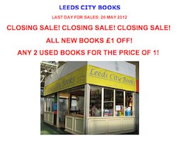 Leeds City Books Closing Sale, May 2012