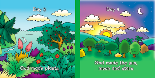 Beginners Bible: The Story of Creation Centre Spread, Days 3 and 4