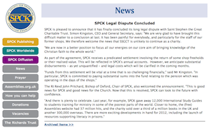 SPCK News: SPCK Legal Dispute Concluded