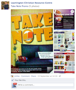 Take Note Promo at Leamington Christian Resource Centre