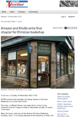 Amazon blamed again as another Christian bookshop prepares to close its doors