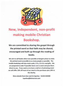 New independent, non-profit making, mobile Christian Bookshop