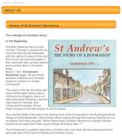 History of St Andrew's Bookshop