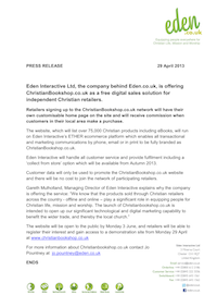 christianbookshop.co.uk: Press Release 29 April 2013 (pdf, 139kb)
