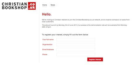 christianbookshop.co.uk: Register an Interest