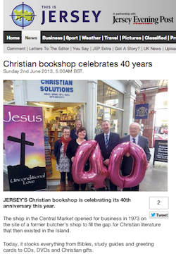This is Jersey/Jersey Evening Post, 2/6/2013: Christian bookshop celebrates 40 years
