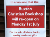Today's the Day: Buxton Christian Bookshop reopens as Chapter andVerse