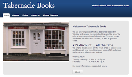 Tabernacle Books, Winslow: Reliable Christian books at remarkable prices