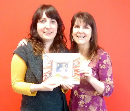 Amy Barnes (L) and Fiona Veitch Smith (R) with their new picturebook, David and the Grumpy King